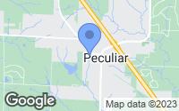 Map of Peculiar, MO