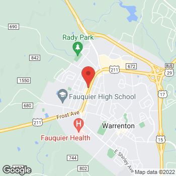 Map of Taco Bell at 238 Broadview Ave, Warrenton, VA 20186