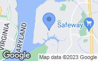 Map of Fort Washington, MD