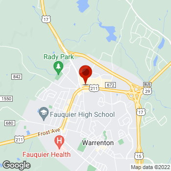 Map of Staples® Print & Marketing Services at 251 West Lee Highway, Warrenton, VA 20186