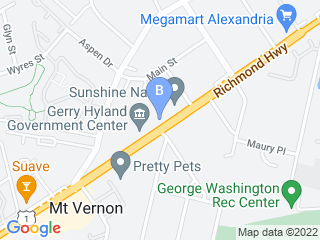 Map of Woodlawn Pet Care Dog Boarding options in Alexandria | Boarding