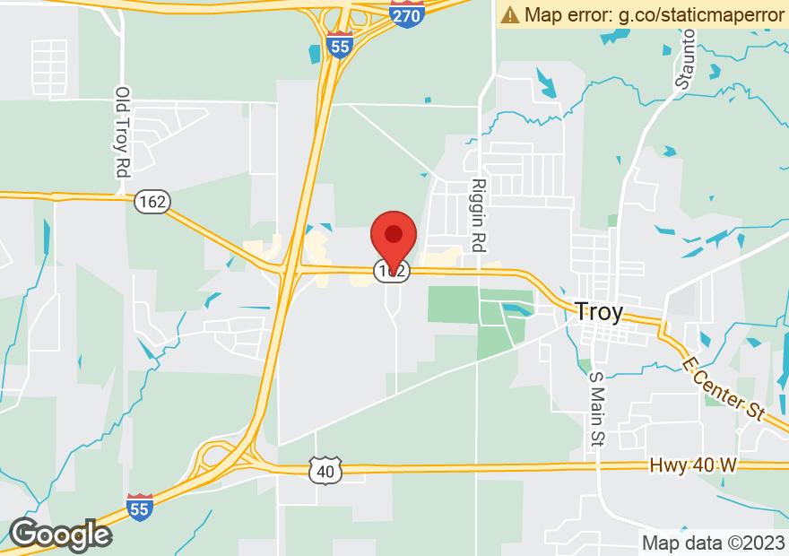 Google Map of 640 EDWARDSVILLE RD