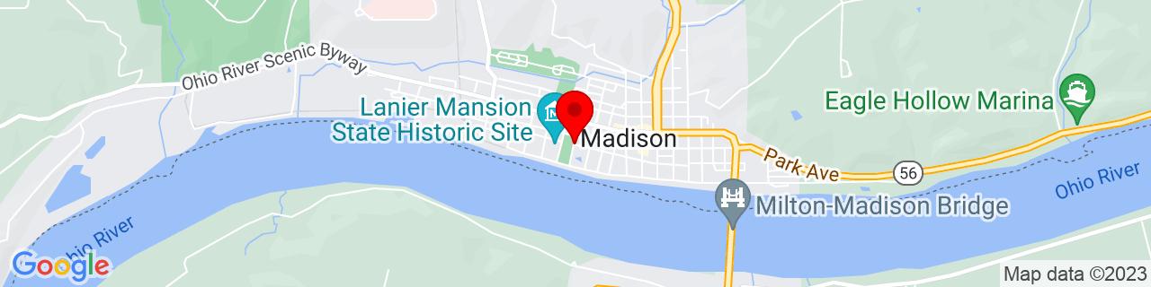 Google Map of 38.7354071, -85.38509909999999