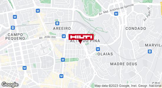 Get directions to Loja Hilti de Lisboa