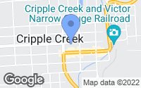 Map of Cripple Creek, CO