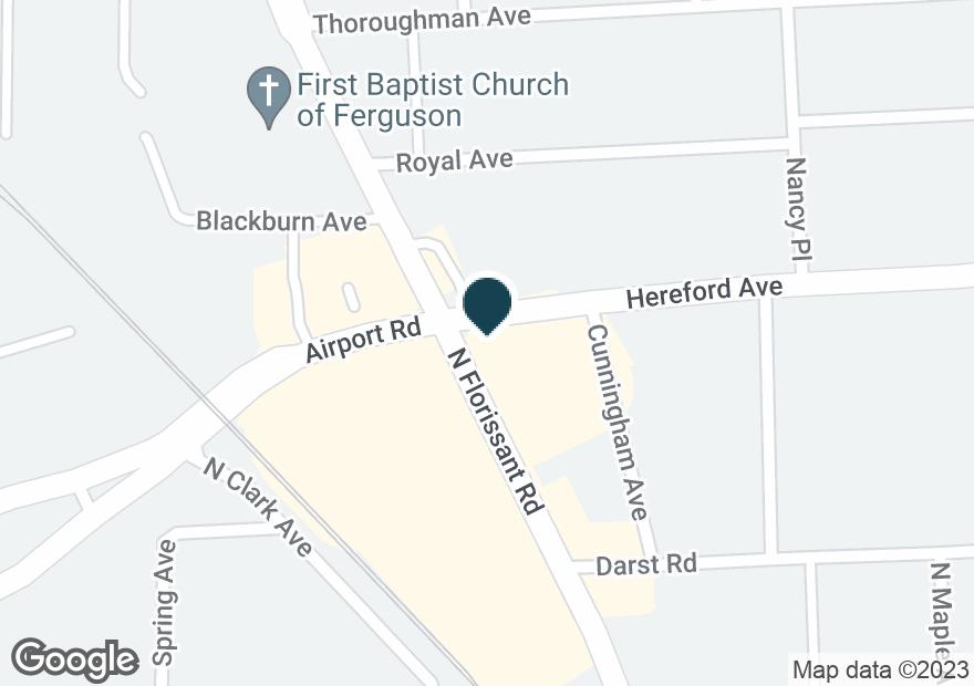 Google Map of190 N FLORISSANT RD