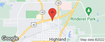 Map of 1326 Mercantile Dr in Highland
