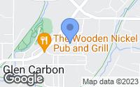 Map of Glen Carbon, IL