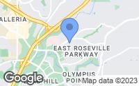 Map of Roseville, CA