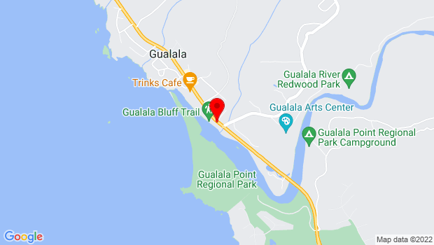 Google Map of 39225 Highway One, Gualala, CA 95445