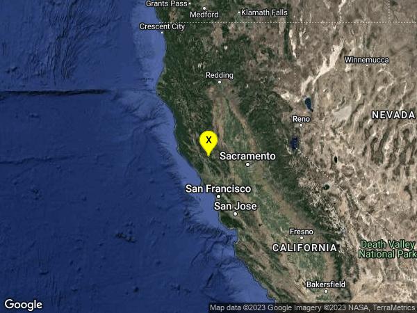 earthquake 2km ESE of The Geysers, CA