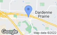 Map of Dardenne Prairie, MO