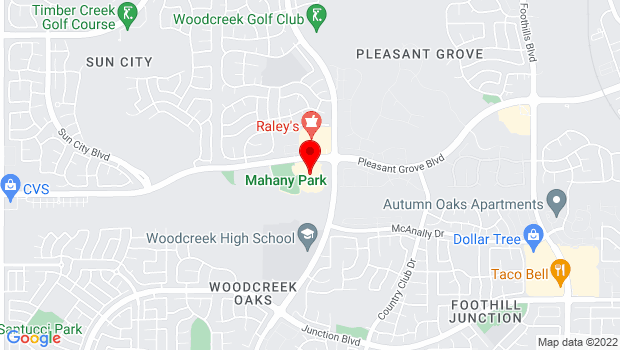 Google Map of 1501 Pleasant Grove Blvd., Roseville, CA 95747