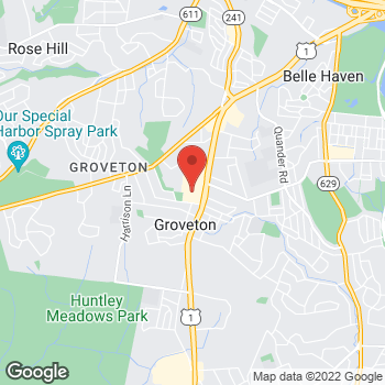 Map of Hair Cuttery at 6758 Richmond Highway, Alexandria, VA 22306