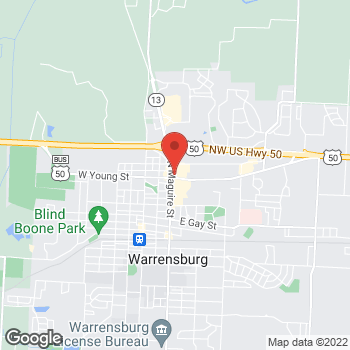 Map of Taco Bell at 701 N Maguire St, Warrensburg, MO 64093