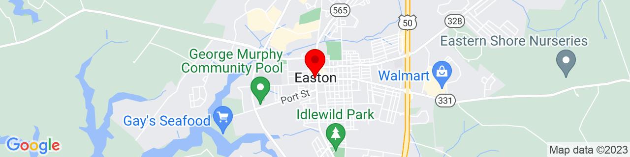 Google Map of 38.774166666666666, -76.07638888888889