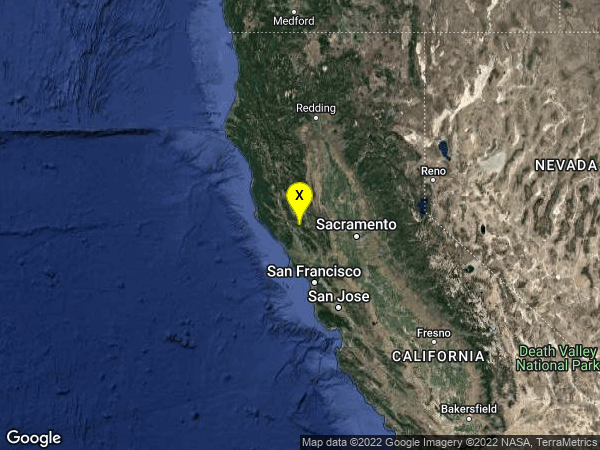 earthquake 1km E of The Geysers, CA