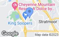 Map of Colorado Springs, CO