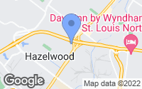 Map of Hazelwood, MO