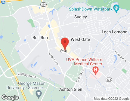 Map of 8201 Sudley Rd in Manassas