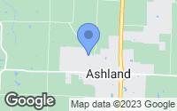 Map of Ashland, MO