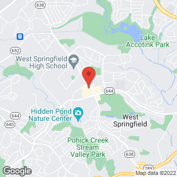 Map of Panera Bread at 6230 W Rolling Road, West Springfield, VA 22152