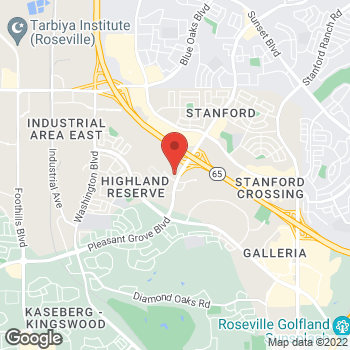 Map of Panera Bread at 916 Pleasant Grove Blvd, Roseville, CA 95678