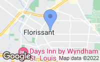 Map of Florissant, MO
