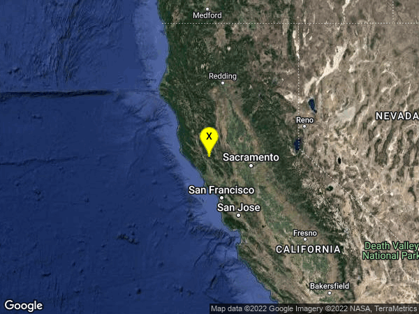earthquake 5km WNW of The Geysers, CA