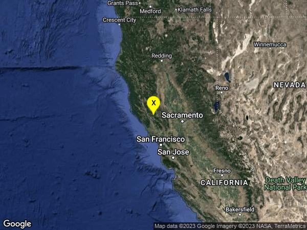 earthquake 2km NE of The Geysers, CA