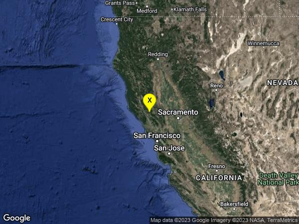 earthquake 2km NNW of The Geysers, CA