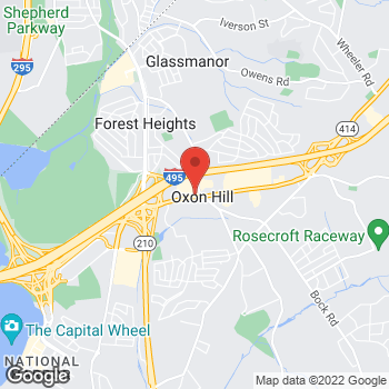 Map of Taco Bell at 6315 Oxon Hill Road, Oxon Hill, MD 20745