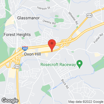 Map of Burger King at 6150 Oxon Hill Rd, Oxon Hill, MD 20745