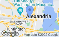 Map of Alexandria, VA