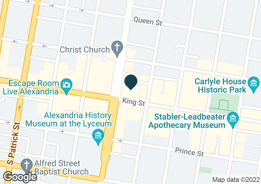 Google Map of615 KING ST