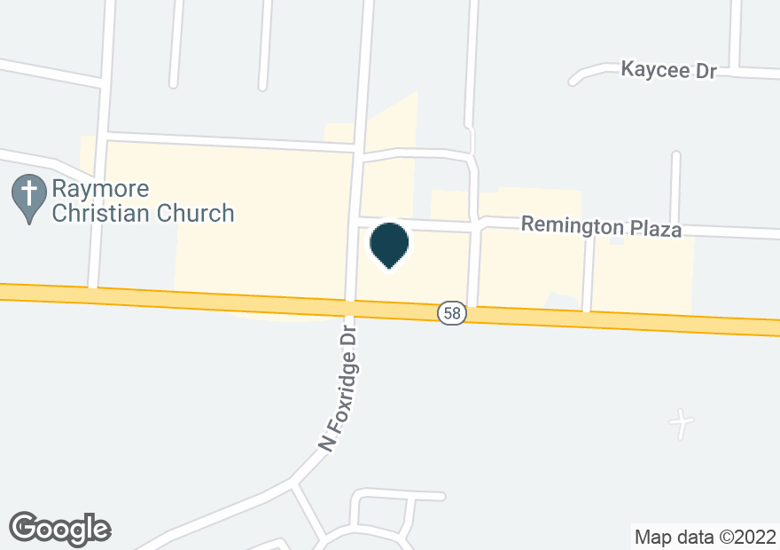 Google Map of1214 W FOXWOOD DR