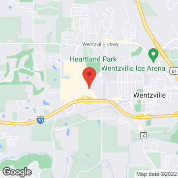 Map of Arby's at 1988 Wentzville Pkwy, Wentzville, MO 63385-3453