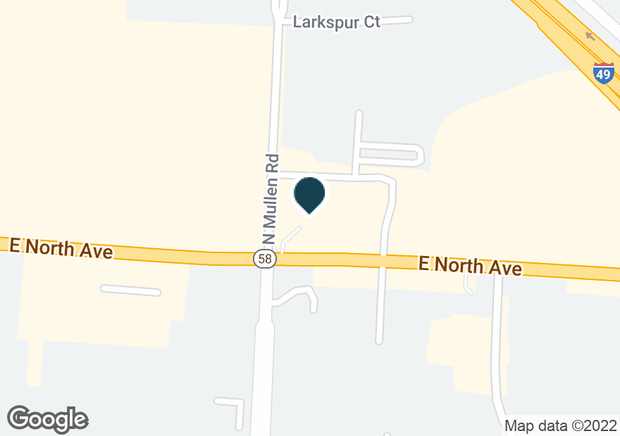 Google Map of1400 E NORTH AVE