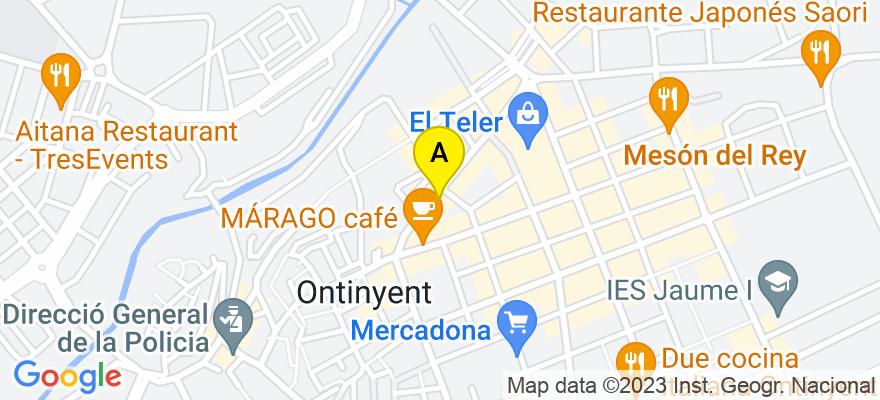situacion en el mapa de . Direccion: dos de mayo 67 bajo, 46870 Ontinyent. Valencia