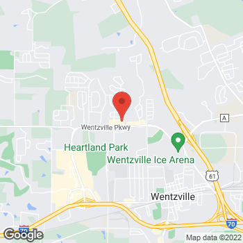 Map of Pizza Ranch at 1225 Wentzville Parkway, Wentzville, MO 63385
