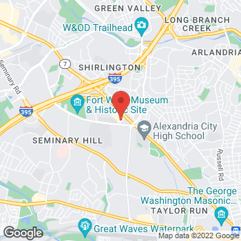 Map of Hair Cuttery at 3622 King Street, Alexandria, VA 22302