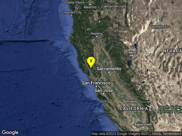 earthquake 7km W of Cobb, CA