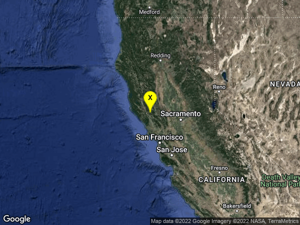 earthquake 10km NW of The Geysers, CA