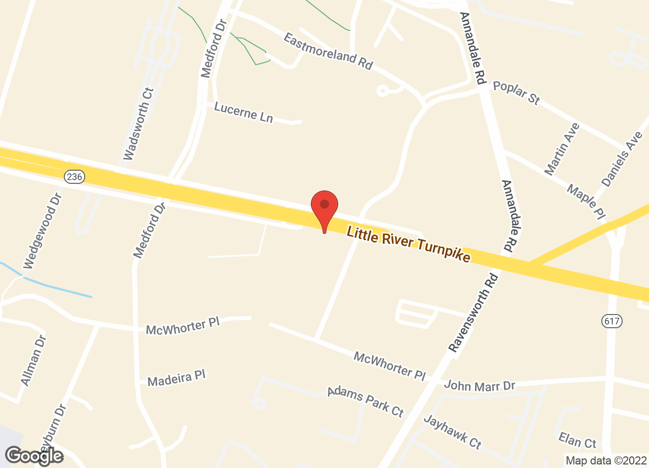 Google Map of VCA Annandale Animal Hospital