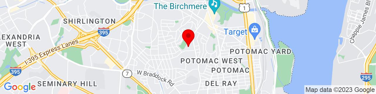 Google Map of 38.83234, -77.06887
