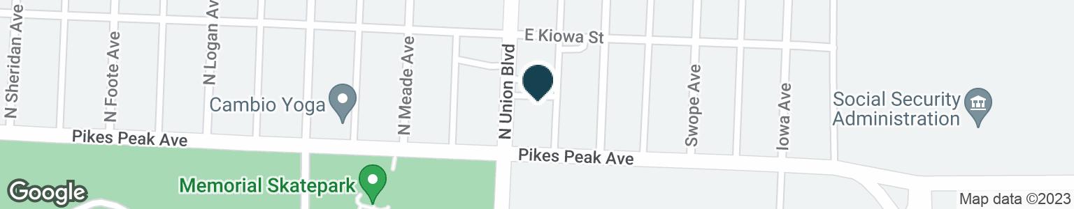 Google Map of15 N UNION BLVD