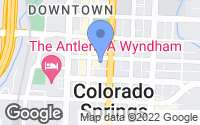 Map of Colorado Springs, CO