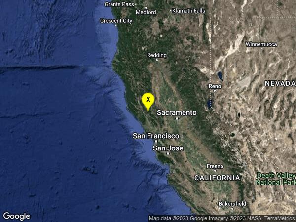 earthquake 6km WNW of Cobb, CA