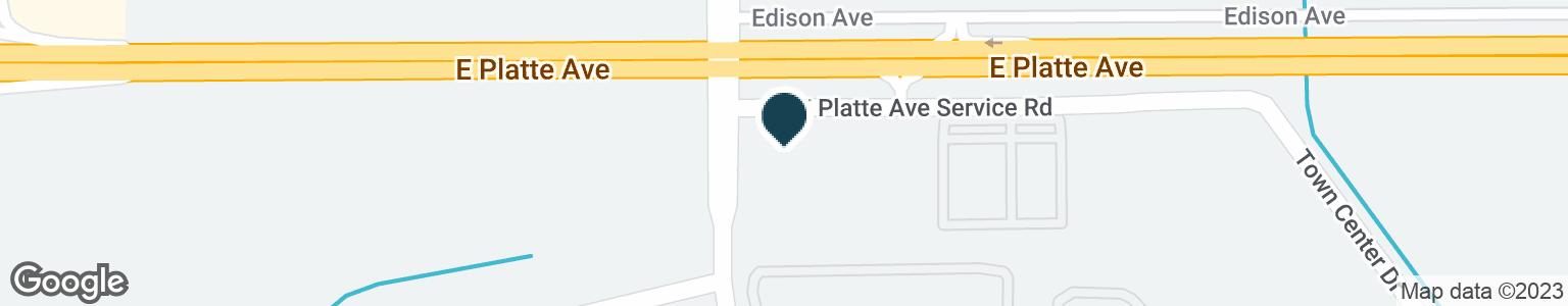 Google Map of4305 E PLATTE AVE