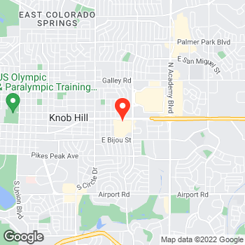 Map of Pizza in Colorado Springs, CO – Cicis Pizza at 3255 E Platte Ave, Colorado Springs, CO 80909